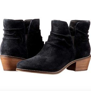 Cole Haan Alayna Slouch Black Suede Ankle Bootie